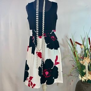 Jessica Howard Floral Black and white Dress Casual